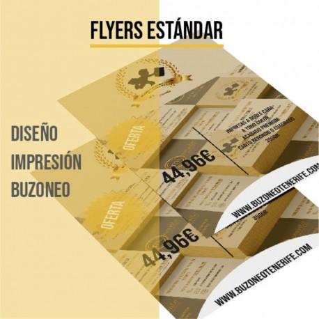 Packs Promo Flyers/Folletos Estándar a todo color